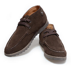 VIISHOW Genuine-Leather Stitched Casual Shoes