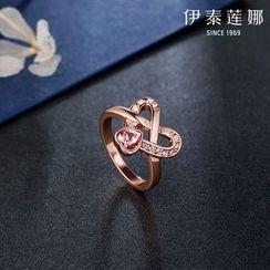 伊泰莲娜 - 施华洛世奇元素水晶心形戒指