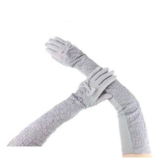 Momiton - Bow-Accent Lace Long Gloves