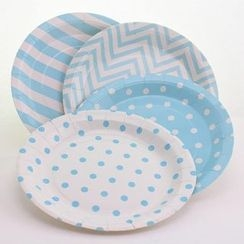 Palmy Parties - Set of 12: Disposable Printed Paper Plate