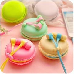Momoi - Set: Earphones + Macaron Case
