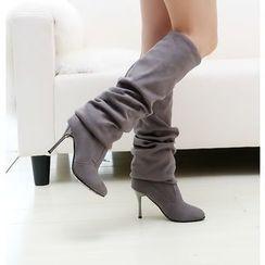 Pastel Pairs - 鞋跟过膝靴
