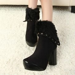 Mancienne - Faux-Fur Fold-Over Boots