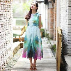 Rainbeam - Sleeveless Printed A-Line Dress