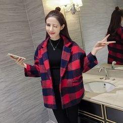 Eva Fashion - Check Knit Coat