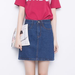 Angel Shine - A-line Denim Skirt