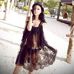 Sunset Hours - Off-shoulder Lace Cover-up
