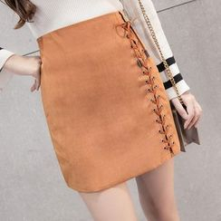 Ashlee - Lace Up Skirt