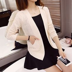 Ageha - Pointelle Knit Cardigan