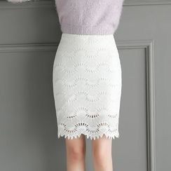 Loverac - Lace Panel Skirt