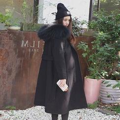 Ashlee - 毛絨連帽長款大衣