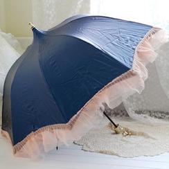 三木青禾 - 雪纺边摺叠伞