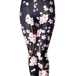 Qui Qui - Cherry Blossom Print Leggings