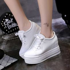 donnaren - Platform Hidden Wedge Sneakers