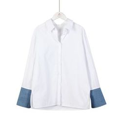 Momewear - Denim-Panel Shirt