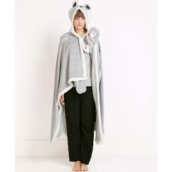 BEANS - Rabbit Fleece-lined Hooded Blanket