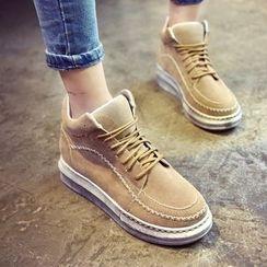 楊董 - 縫線厚底船靴