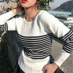 Octavia - Striped Long-Sleeve Knit Top