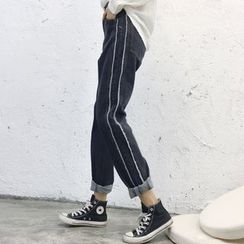Jeans Kingdom - 散邊直腿牛仔褲