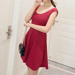 Arroba - Sleeveless A-Line Dress