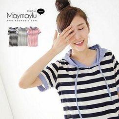 Maymaylu Dreams - Striped Hooded Top