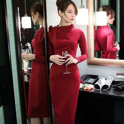Aurora - 水钻针织连衣裙