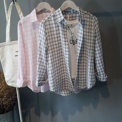 芷蓯夕 - 格紋襯衫