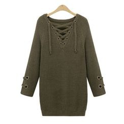 Coronini - Lace-Up Long Sweater