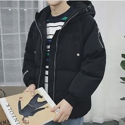 ZZP HOMME - Embroidered Padded Coat