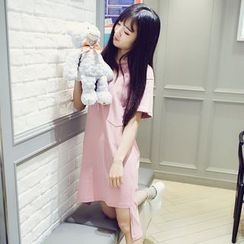 Polaris - Fray Short-Sleeve T-shirt Dress