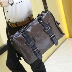 Yiku - Buckled Shoulder Bag