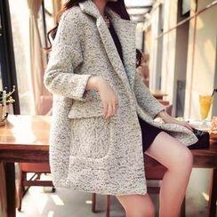 Bloombloom - Melange Woolen Coat