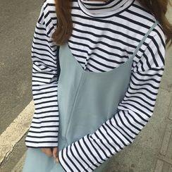 OCTALE - Long-Sleeve Striped High Neck T-Shirt