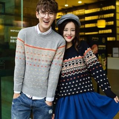 Lovebirds - Patterned Couple Sweater