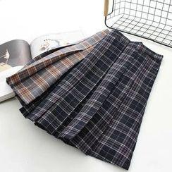 Moricode - 格子百褶裙