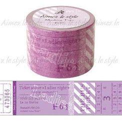 Aimez le style - Aimez le style Masking Tape Wide Ticket