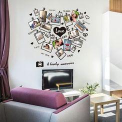 Citadin - Heart Photo Frame Wall Sticker