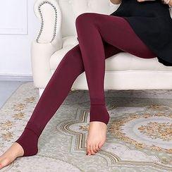 lilygirl - Fleece Lined Stirrup Leggings