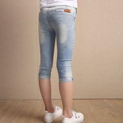 Petit Chatons - Kids Capri Jeans