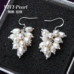 微微珍珠 - 淡水珍珠耳環