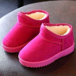 绿豆蛙童鞋 - 童装扣踝带雪靴