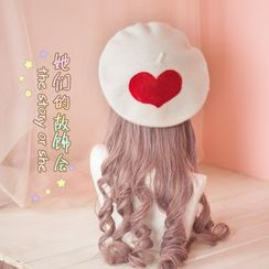 AOI - Heart-Accent Beret