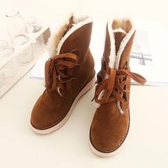布衣天使 - 系带短筒靴