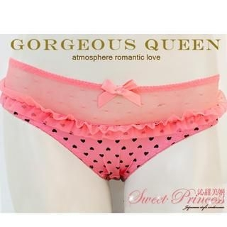 Sweet Princess - Mesh-Panel Patterned Panties