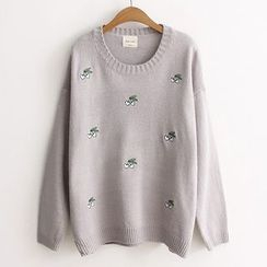 ninna nanna - Embroidered Knit Top