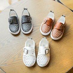 Hambu - Kids Buckled Cutout Casual Shoes