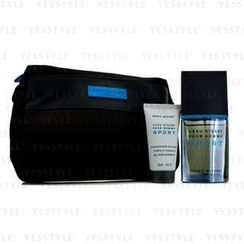 Issey Miyake - LEau dIssey Pour Homme Sport Coffret: Edt Spray 50ml/1.6oz + All Over Shampoo 50ml/1.6oz + Bag