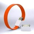 Mohzy - Mohzy Loop USB to Micro-USB Cable (Fiesta Orange) (With Adapter)