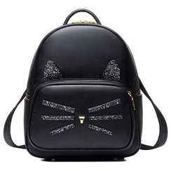 BeiBaoBao - Faux-Leather Paneled Backpack