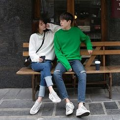 Seoul Fashion - Couple Round-Neck Knit Top
